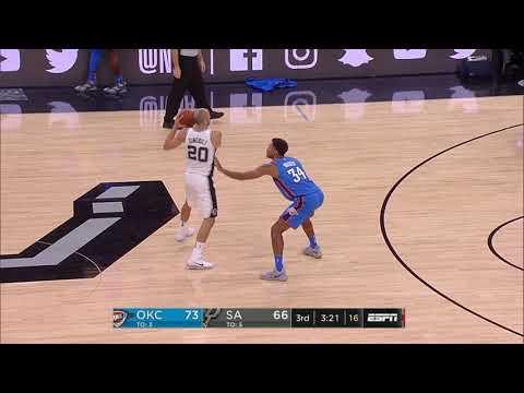 Oklahoma City Thunder vs. San Antonio Spurs - November 17, 2017