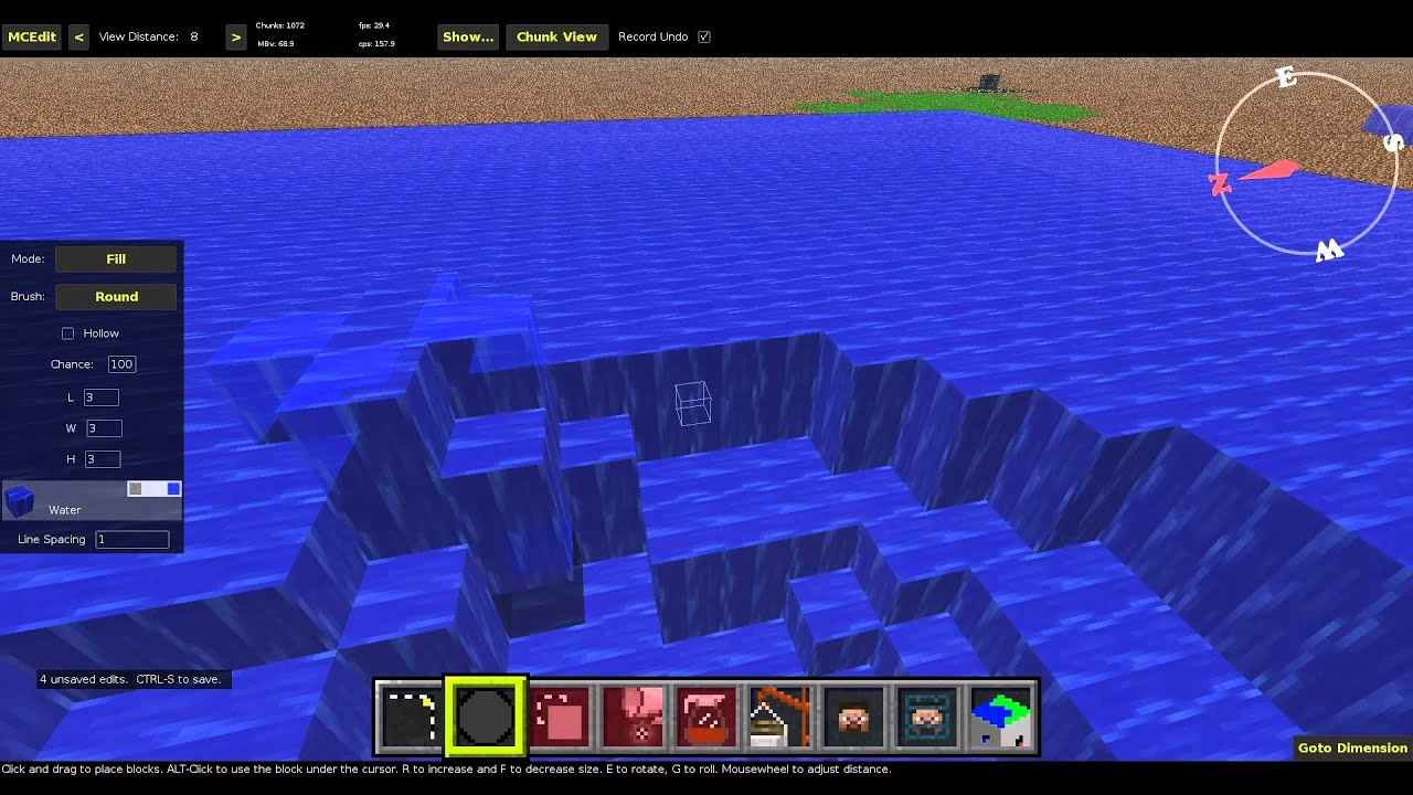 Minecraft Mapping with Vechs 02 Making Whirlpools - YouTube