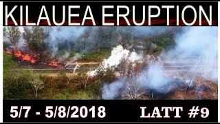 Hawaii Kilauea Volcano Eruption Before During After LATT #9