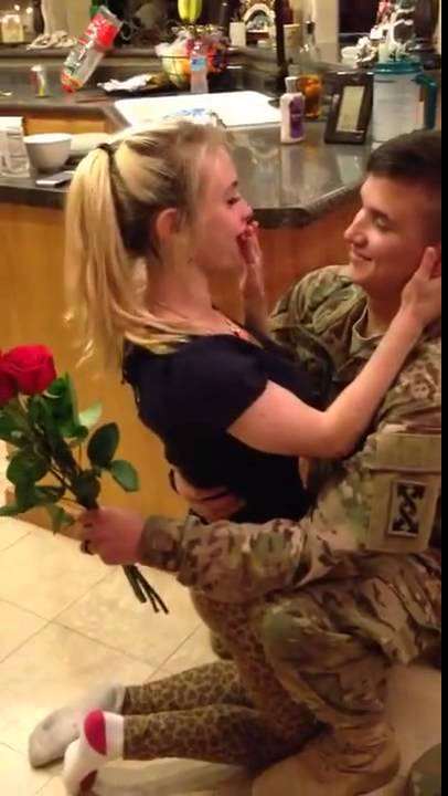Soldier Returns Home, Surprises Wife Viral - Youtube-4225