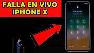 falla el nuevo iphone x en presentación en vivo