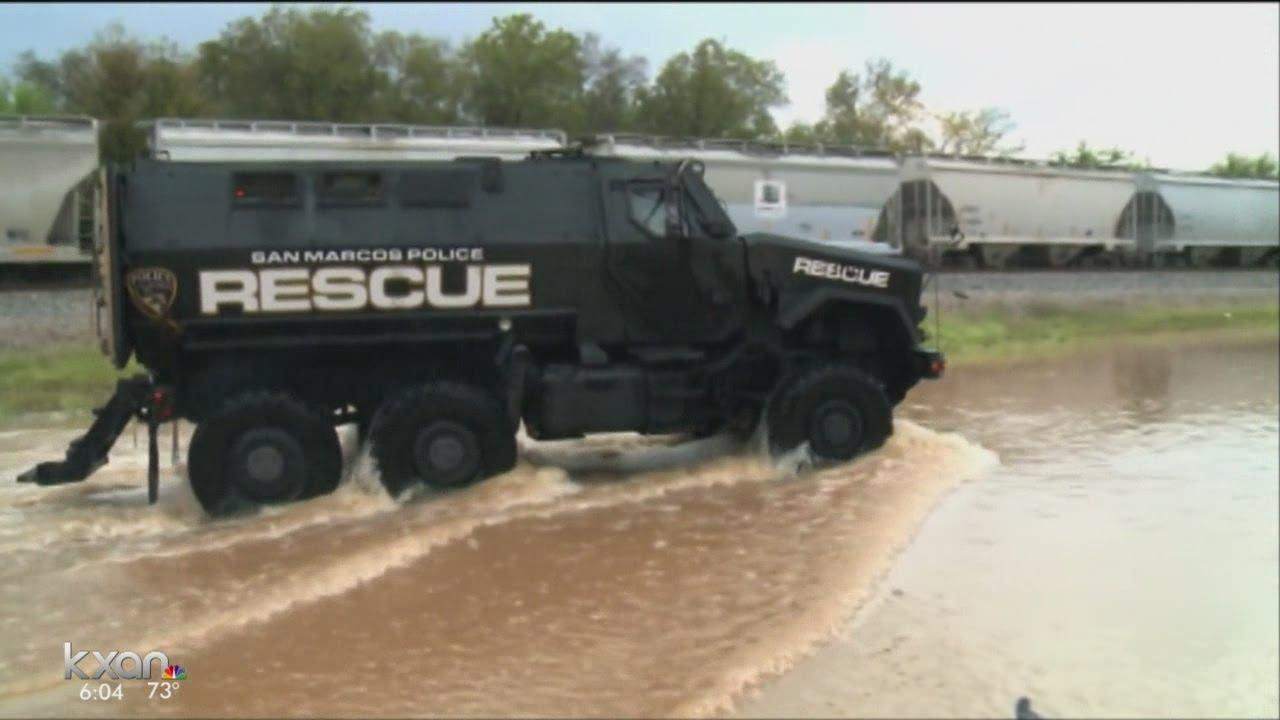 Used Trucks Houston >> Hays. Co. used MRAP for flood rescue - YouTube