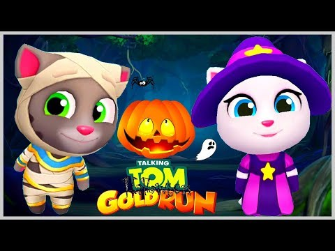 Говорящий Том Мумия против Ведьмочки Анджелы Тыква Челлендж обновление в игра Том за Золотом
