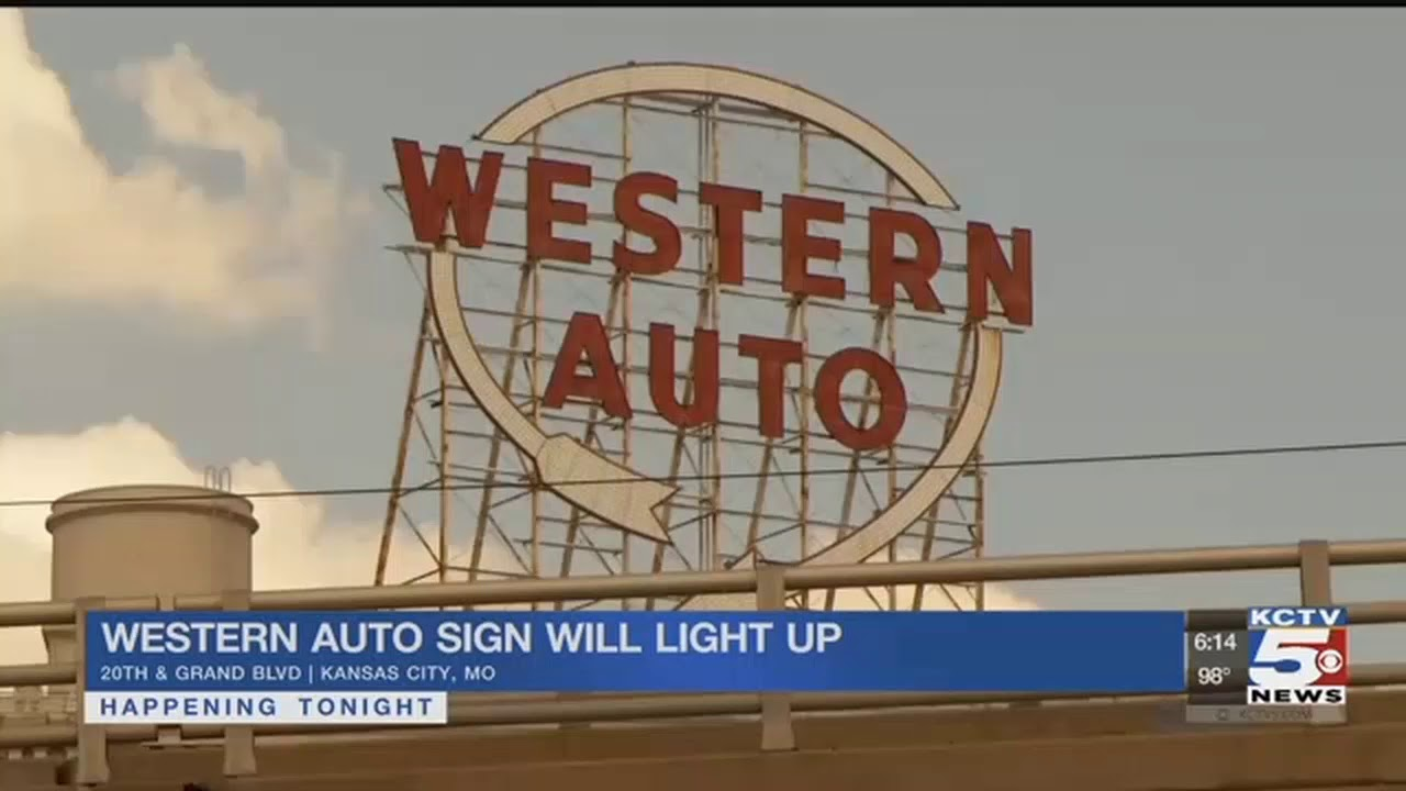Western Auto Sign Will Light Up Kansas City Skyline Again Youtube