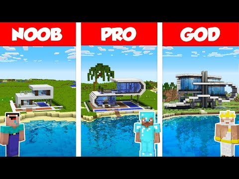 minecraft-noob-vs-pro-vs-god:-modern-beach-house-build-challenge-in-minecraft-/-animation