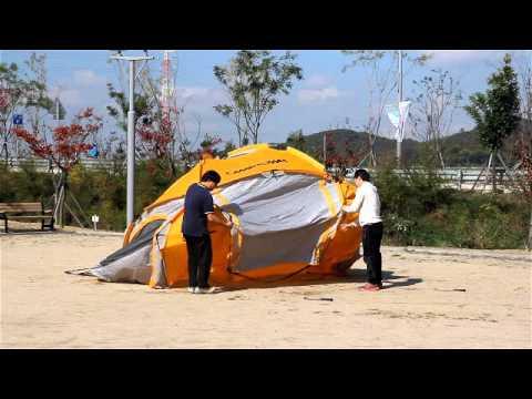 캠프타운 INSTA 텐트 빅돔 에스 설치 동영상