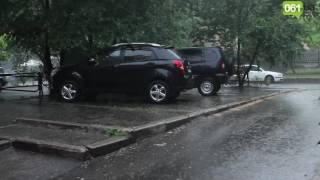 Дождь в Запорожье (видео 061.ua)