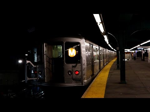 MTA New York City Subway : Metropolitan Avenue Bound 6-Car R42 M Train @ Fresh Pond Road