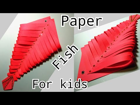 DIY Paper Fish/paper fish making/origami fish/Origami paper fish for kids easy steps /paper craft 😊