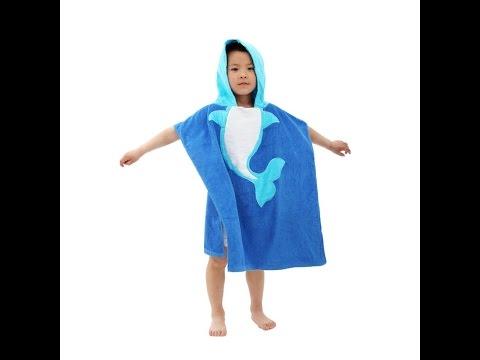 Яркое детское полотенце халат балахон с капюшоном звери. Купить на AliExpress. US $5.85 (~380 руб.)