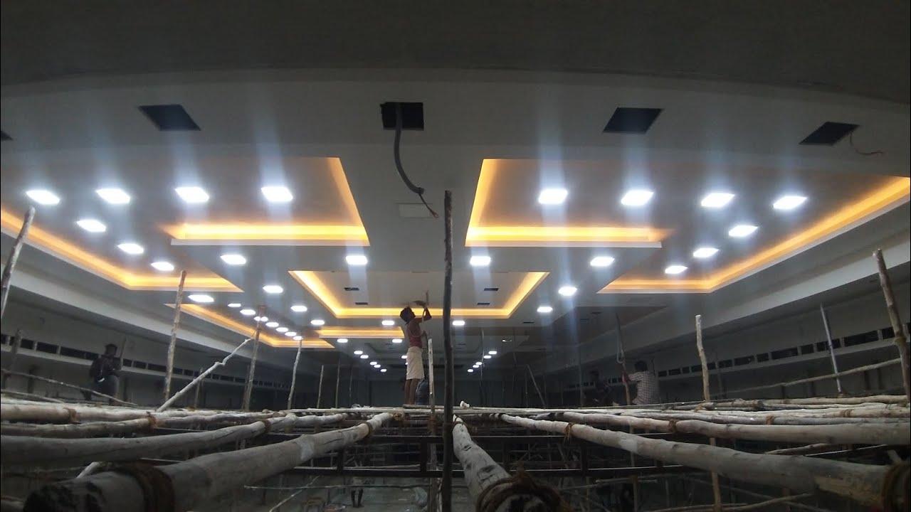 4500sq.ft False ceiling design working progress. - YouTube