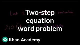 Linear equation word problem | Linear equations | Algebra I | Khan Academy