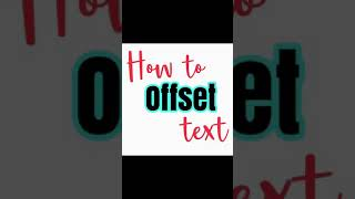 How to create offset text using Phonto app to use in Cricut Design Space