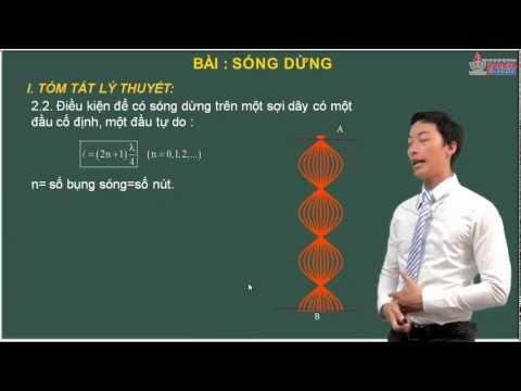 Bài giảng Vật lý 12 - Sóng cơ học - Lý thuyết sóng dừng - Cadasa.vn