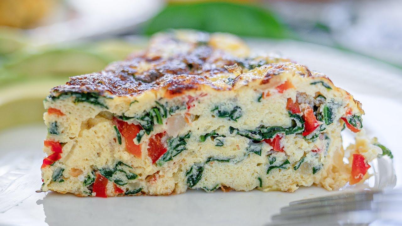 Omelette de espinacas y queso