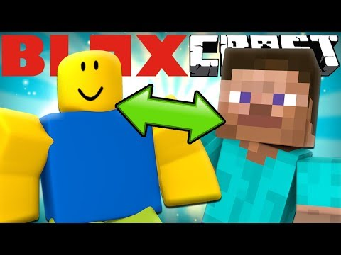If MINECRAFT and ROBLOX Teamed Up