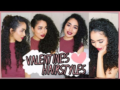 EASY CURLY HAIRSTYLES THAT WILL MAKE BAE WEAK ON VALENTINES DAY ♡ Lana Summer