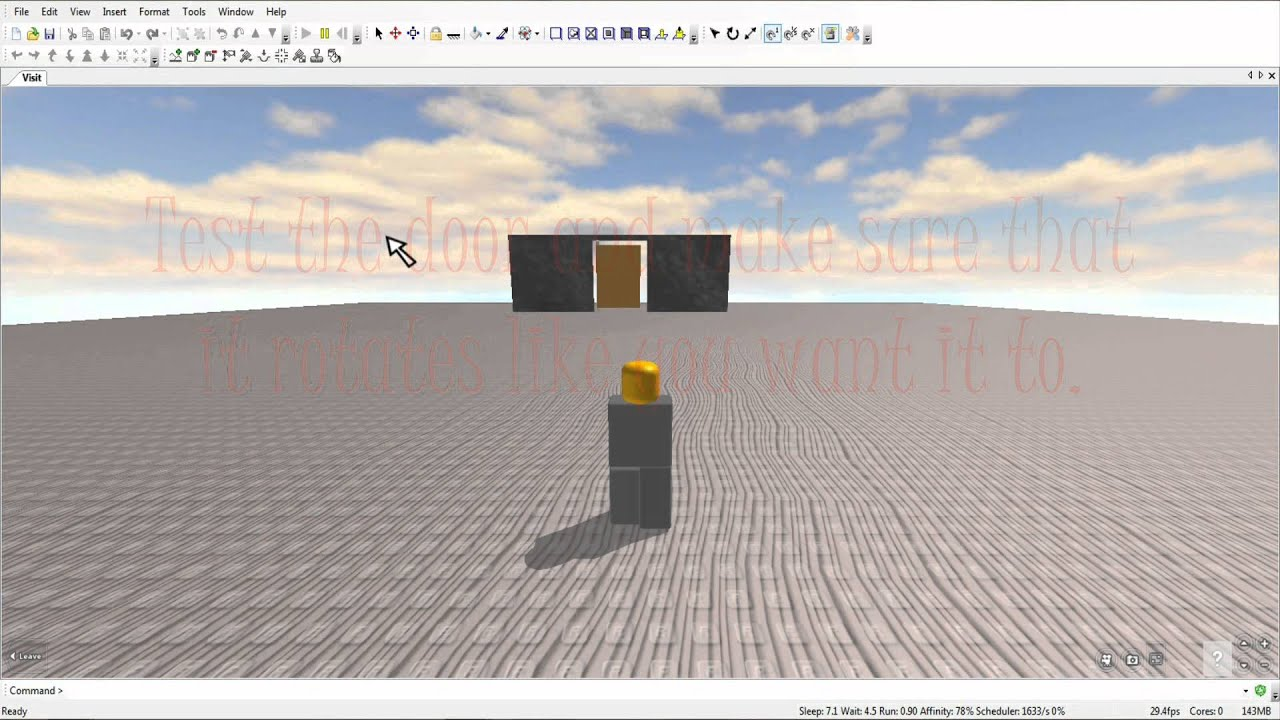 How To Make A Hinged Door In Roblox Youtube