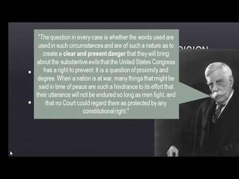 APUSH Review: Schenck v. United States