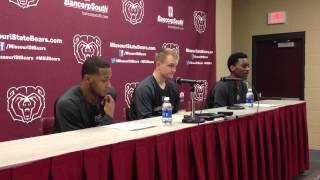 Nathan Scheer, Anthony Downing and Marcus Marshall discuss Missouri State