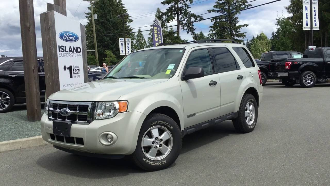 2008 ford escape xlt fwd roof rails w 2 way lift gate review island ford youtube. Black Bedroom Furniture Sets. Home Design Ideas