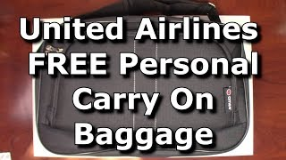 United Airlines NO EXTRA CHARGE Personal Item Duffel Bag Packing Cubes FITS Passed