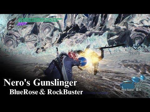 【DMC5】ネロVSバージル -Nero's Gunslinger(BlueRose&RockBuster)- Nero vs Vergil Boss Fight 【Devil May Cry 5】