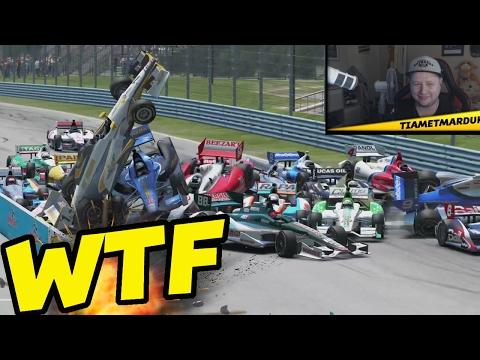 HUGE PILEUP   Racing Game Crashes & Glitches