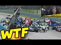 HUGE PILEUP | Racing Game Crashes & Glitches