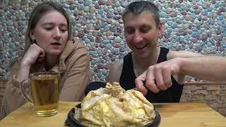 МУКБАНГ БЛИННЫЙ ТОРТ MUKBANG PANCAKE CAKE cake mukbang asmrrussia мукбанг