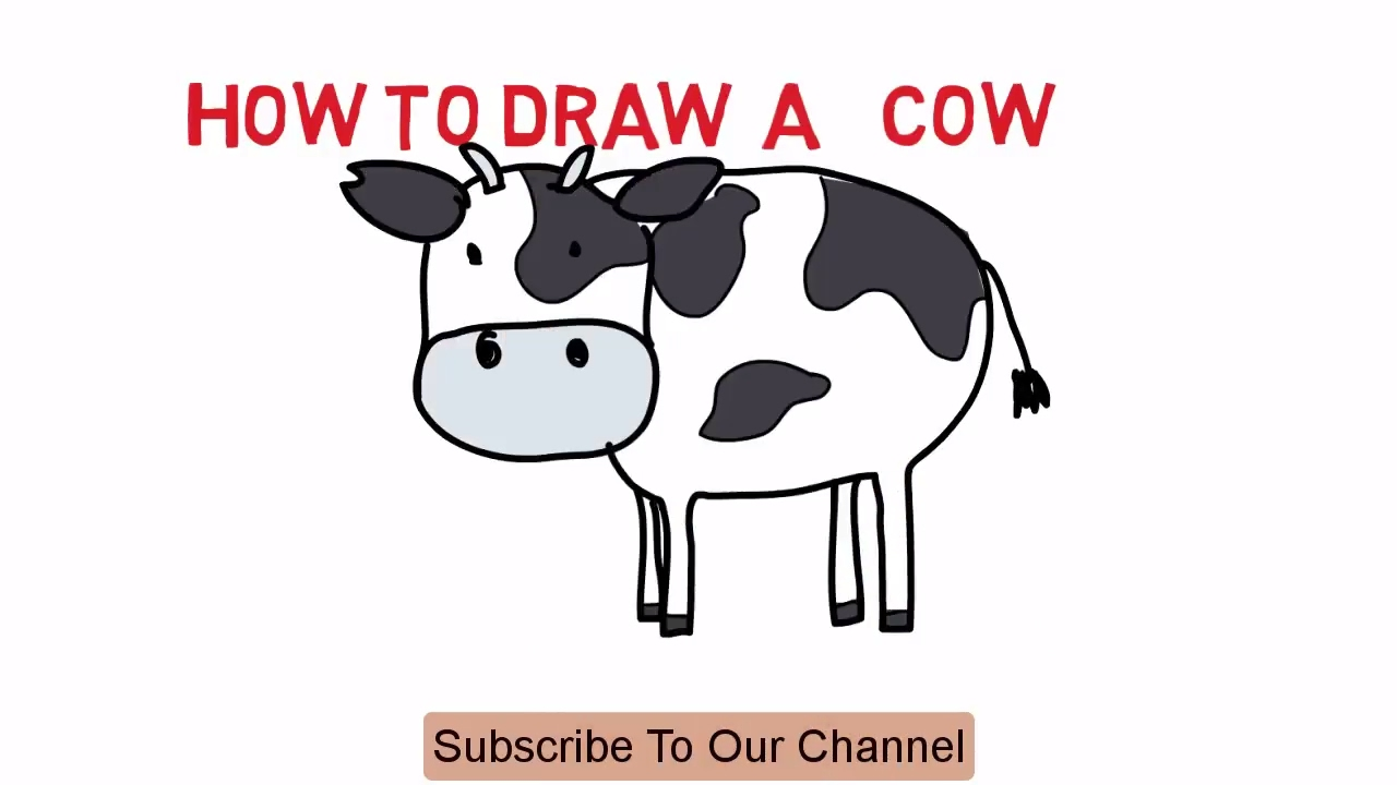 Uncategorized How To Draw Cow cow how to draw a cartoon easy sketch drawing video demo latest tutorial