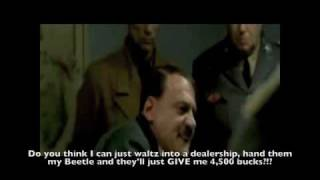 "Hitler is told he missed out on ""Cash for Clunkers"""
