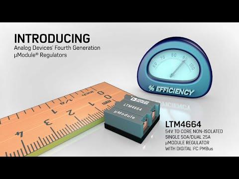 LTM4664: 54VIN, High Efficiency Dual 25A or Single 50A µModule Regulator  with Digital Power System M