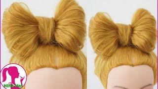 Hairstyles - Hướng Dẫn Cách Búi Tóc Nơ Dễ Thương Cho Bạn Gái