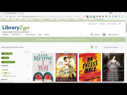 Library2Go:How to Borrow eBooks with your Kindle Paperwhite