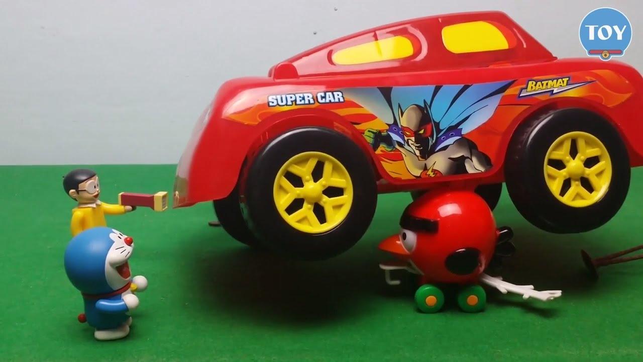 Đồ chơi Doremon - Nobita súng bắn chim điên  Angry Bird ăn cắp bí đỏ