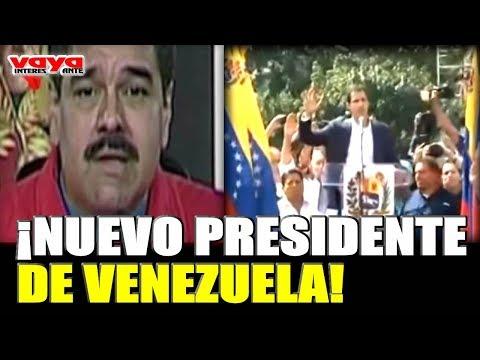 Juan Guaidó se juramenta como nuevo presidente de Venzuela y maduro reacciona