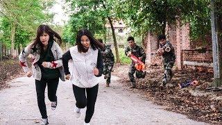 Nerf War: Infantry Man 😎 Marines Nerf Guns Bank robbery Rescue Pretty Girl Nerf Movie