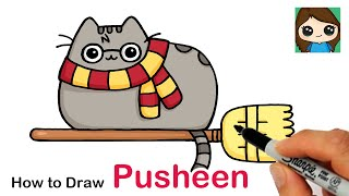 How to Draw Pusheen Harry Potter Easy