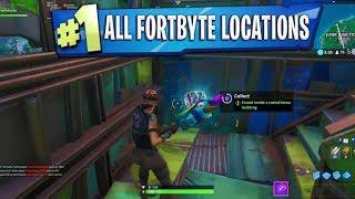 All Fortbyte Locations! 1-100 FORTBYTE Unfound Rewards! -Fortnite Battle Royale
