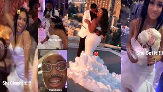 Quavo Huncho Pays 4️⃣ Sisters Wedding + Saweetie Catches The Brides Bouquet 💐