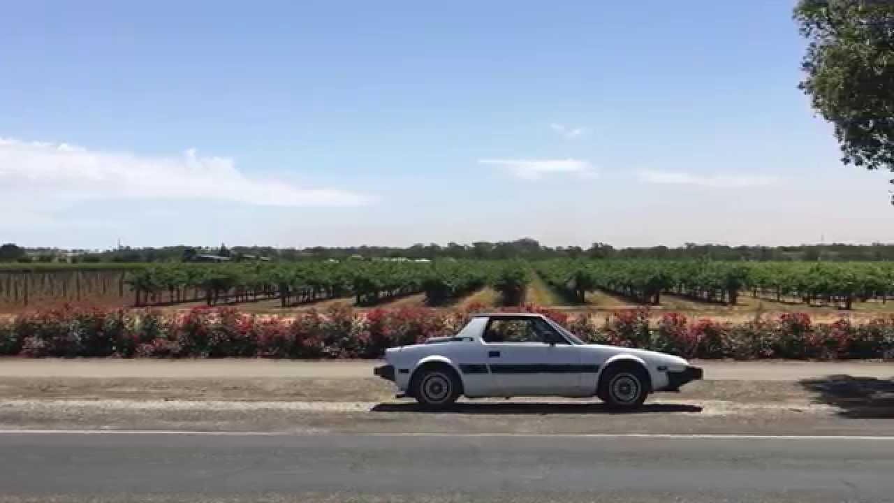 Driving my 1988 X1/9 around the Barossa in South Australia