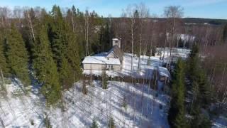 Sulkavanjärven kirkko yms.(ilmakuvaa)