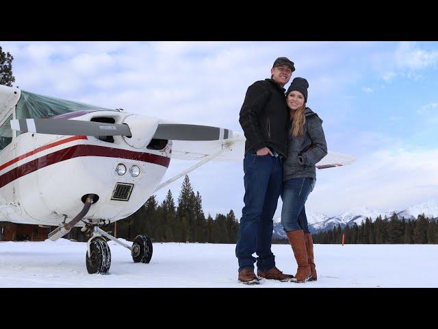SNOW LANDING   Montana Mountain Flying   Couple's Flight Vlog