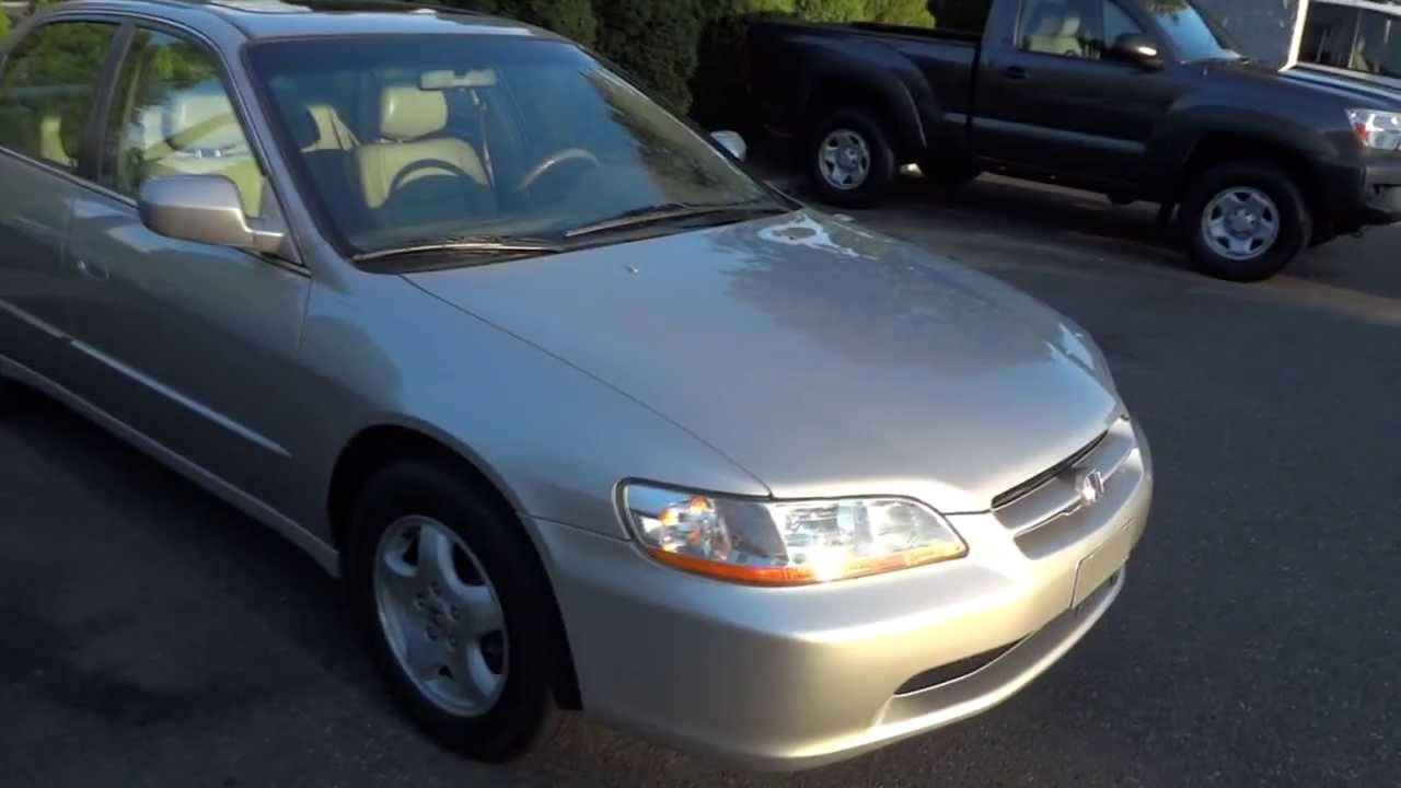1999 Honda Accord EX V6 Full Tour, Engine & Overview - YouTube