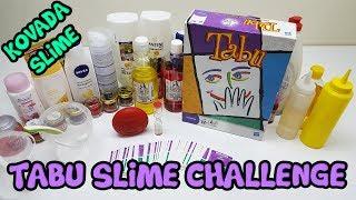 TABU Oyunu ile Kova İçinde Slime Challenge Yaptık - Limon Slime VS Portakal Slime