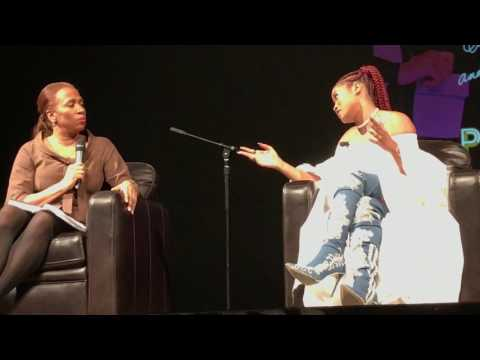 """KeKe Palmer """" I Don't Belong To You """" Q&A at Aaron Davis Hall  in City College NYC"""