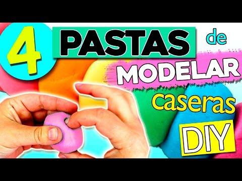 Pasta de MODELAR Casera 4 RECETAS * Pasta de sal, Plastilina, Porcelana Fría, Pasta Flexible