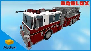 ROBLOX STUDIO SPEED BUILD / Fire ladder truck