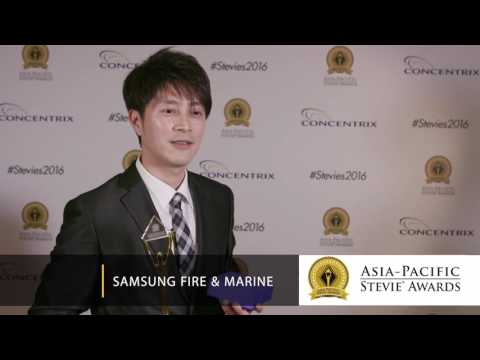 Samsung Fire & Marine wins in 2016 Asia-Pacific Stevie Awards